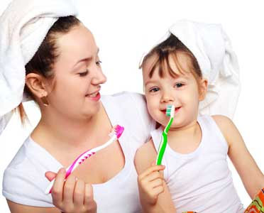 child-brushing